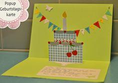 Lieblingssachen für's MiniMe: Popup Geburtstagskarte