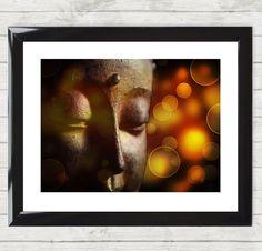 Framed Print Gautama Buddha India Spiritual Prayer Photo Art Poster Picture 009