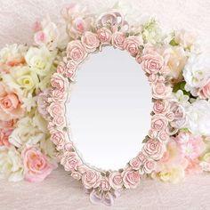 Rose mirror frame