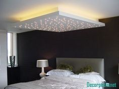 The latest pop design false ceiling for bedroom 2019 and how to choose the best option for your bedroom ceiling with plaster of paris, How to install pop ceiling design and how to finish it. Gypsum Ceiling Design, House Ceiling Design, Ceiling Design Living Room, Bedroom False Ceiling Design, Bedroom Ceiling, Bedroom Lighting, Ceiling Canopy, Decoration Faux Plafond, False Ceiling Living Room