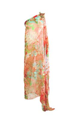 silk cover-up one shoulder maxi dress