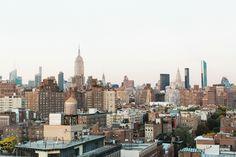 NYC skyline from a private terrace! #NewYorkCity #skyline #party #view