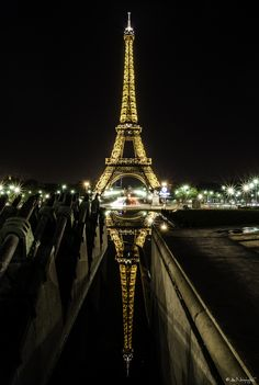 Reflected Eiffel Tower, Paris, France
