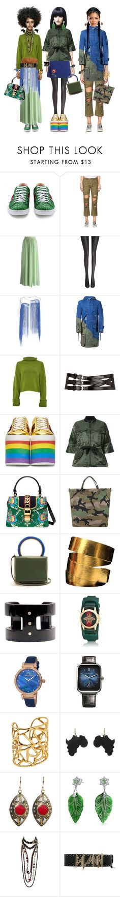 """Seaweed Sistets"" by the1standthe15th ❤ liked on Polyvore featuring Gucci, R13, Chicwish, Wolford, Aviù, Greg Lauren, Amanda Wakeley, Dorothy Perkins, Marissa Webb and Valentino"
