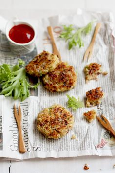 Garlic and Thyme Quinoa Patties --  2 and 1/2 cups cooked quinoa* 5 organic eggs* 1/2 cup grated Parmesan cheese* 3 whole meal bread slices, processed into breadcrumbs* 1/4 cup chives, finely chopped* 3 garlic cloves, finely chopped* 1 large Spanish onion, finely chopped* 1 tablespoons fresh thyme, finely chopped* 1 teaspoon mild paprika* sea salt flakes to taste* olive oil to pan fry