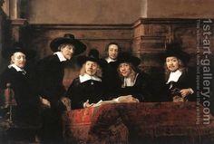 Sampling Officials of the Drapers' Guild 1662 by Rembrandt Van Rijn