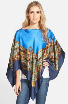 Lauren Ralph Lauren Silk Poncho available at #Nordstrom