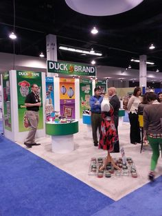 Duck booth at the CHA winter 2014 Mega Show. I believe the dress was from the Project Runway show. Unlimited possibilities.