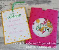 Julie Kettlewell - Stampin Up UK Independent Demonstrator - Order products 24/7: Shaker Party Invitation