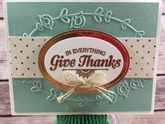 Stampin' Up!'s Suite Seasons to make a Thanksgiving card. Also uses: Stitched Shapes Framelits, Layering Ovals Framelits, Copper Foil Paper, Burlap Ribbon, Pretty Paisleys embossing folder, Copper Embossing Powder and the Petals & Paisleys Designer Paper! www.stampwithjennifer.blogspot.com #stamptherapist #stampinup #monthlycraftclass