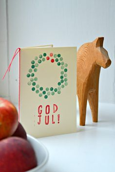 "DIY christmas card (P.S. ""god jul"" is Norwegian)"