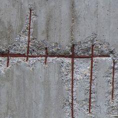 Raw ConcreteExposed concrete reinforcement.