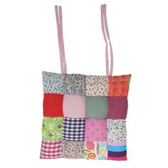 Patchwork Chair Cushion in Summer Colours - Rice A/S