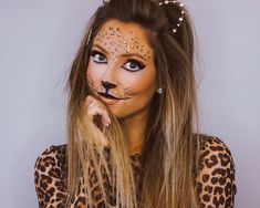 Looking for for ideas for your Halloween make-up? Browse around this site for cute Halloween makeup looks. Creepy Halloween Makeup, Halloween Make Up, Leopard Halloween Makeup, Halloween Costumes, Leopard Makeup, Maquillaje Halloween, Fru Fru, Makeup Tutorial For Beginners, Costume Makeup