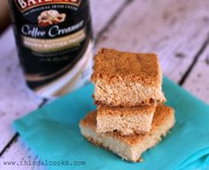 Baileys Brown Butter Pecan Blondies - www.thisgalcooks.com wm