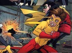 Kid Flash (Bart Allen) and Robin (Damian Wayne)