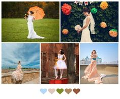 orange wedding details
