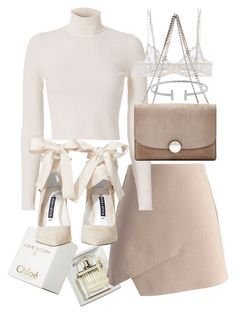 A fashion look from September 2016 featuring white shirt, nude skirt and la perla lingerie. Browse and shop related looks. Kpop Fashion Outfits, Girly Outfits, Cute Casual Outfits, Outfits For Teens, Stylish Outfits, Look Fashion, Korean Fashion, Mode Pastel, Looks Party