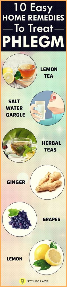 Home Remedies To Get Rid Of Phlegm (Mucus) + Color Chart Phlegm is usually triggered by allergies causing a stuffy feeling in the throat & chest. Do you know to get rid of phlegm naturally? Check out these effective remedies Natural Cough Remedies, Holistic Remedies, Cold Remedies, Natural Health Remedies, Natural Cures, Herbal Remedies, Sinus Remedies, Natural Treatments, Natural Healing