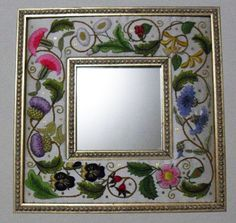 Embroidery Classes with Susan O'Connor Announced Beaded Embroidery, Hand Embroidery, Embroidery Designs, Embroidered Flowers, Really Cool Stuff, Needlework, Origami, Decoupage, Cross Stitch