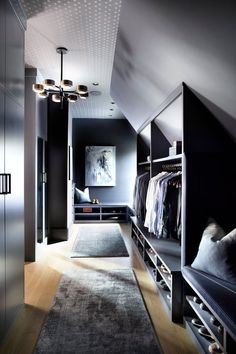 Loft Style Bedroom, Attic Bedroom Storage, Attic Master Bedroom, Attic Bedroom Designs, Wardrobe Design Bedroom, Loft Room, Attic Rooms, Closet Bedroom, Home Bedroom