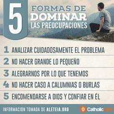 Biblioteca de Catholic-Link - Infografía: 5 formas de dominar las preocupaciones