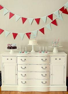 #birthday Love the color scheme: red and aqua. maybe for baby's 3rd birthday?
