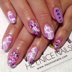 Purple Mosaic Tiles (at Hey Nice Nails)