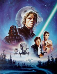 Star Wars - Return Of The Jedi (1983) Special Edition by Drew Struzan