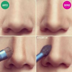 Makeup Tips For Beginners To Make Nose Look Perfect - Makeup Techniques Nose , Makeup Tips For Beginners To Make Nose Look Perfect Nose contouring is an important element of each makeup. It's easy to go overboard when you contour. Makeup Tips Contouring, Make Up Tutorial Contouring, Makeup Tricks, Contour Makeup, Beauty Makeup, Eye Makeup, Makeup Ideas, Contour Nose, Makeup Tutorials