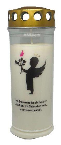 Grablicht Wochenbrenner Engel Mädchen Schmetterling