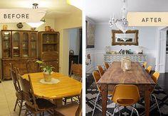antes y despues decoracion comedor