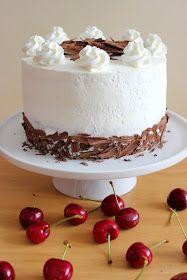 "Kiara`s cakes: Tarta ""Selva negra"" / Black Forest Cake Black Forest Cake, New Cake, Vanilla Cake, Catering, Cheesecake, Pudding, Baking, Sweet, Desserts"
