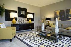 marcos para salas con muebles en gris - Buscar con Google