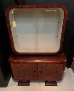 Four Year Fabulous - Provenance Auction House: A Very Fine Walnut Art Deco Display Cabinet. South African Art, Very Happy Birthday, Minerals, Highlights, Art Deco, Auction, Display, Cabinet, Glass