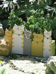 Frischen Sie Ihren Garten auf mit diesen 8 lustigen hölzernen Pflanzkübeln! - DIY Bastelideen