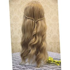 Name: Maleficent Sleeping Beauty Princess Aurora Cosplay Wig, Long Golden Blonde Costume Wigs for Party UF090. Material: Synthetic Hair. Item Type: Wig, Half W…