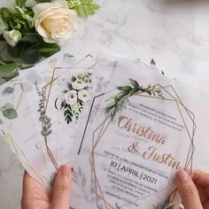 Acrylic Wedding Invitations, Minimalist Wedding Invitations, Affordable Wedding Invitations, Wedding Invitation Design, Wedding Cards, Diy Wedding, Dream Wedding, Faire Part Invitation, Invitation Ideas