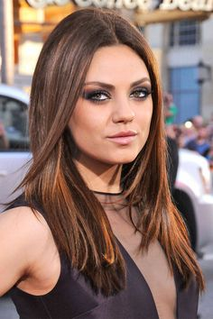 the best celebrity hair colors of the year mila kunis makeupespresso hair colorcelebrities