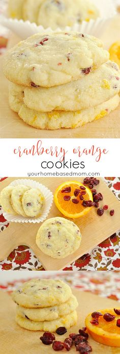 Cranberry Orange Cookies are a perfect holiday cookie or perfect anytime.