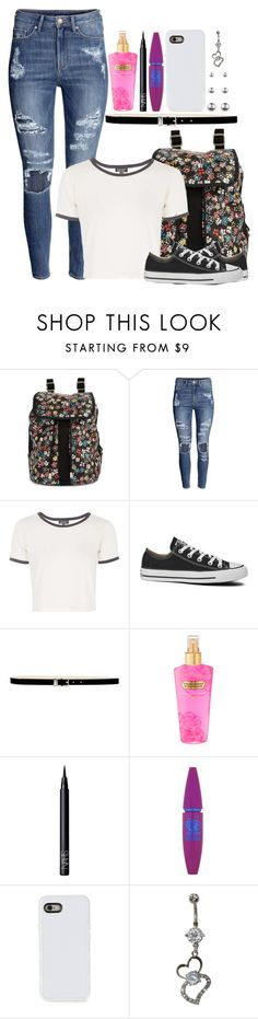 """""""✿ 01"""" by seven-in-the-morning ❤ liked on Polyvore featuring LeSportsac, H&M, Topshop, Converse, Nine West, Victoria's Secret, NARS Cosmetics, Maybelline, LMNT and Accessorize"""