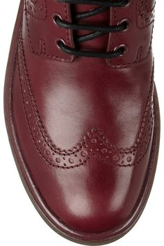7f4163c7d05018 Marc by Marc Jacobs - Lace-up leather ankle boots. Burgundy WineRed Wine OxbloodLeather Ankle BootsColor TrendsDandyMen ...