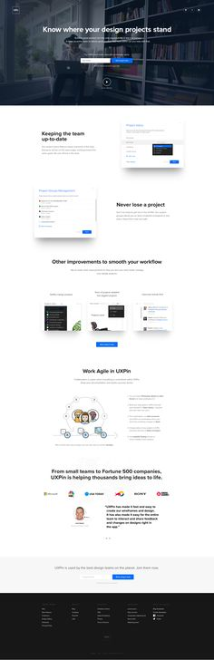 UXPin's Redesigned Dashboard – Landing page by UXPin