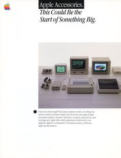 """""""Apple Accessories"""" Dealer Spec Sheets - 1984. Excellent condition."""