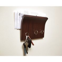Sleek and modern, the Magnetter Key Hanger will hold onto your keys with hidden magnets. Magnetic Key Holder, Wall Key Holder, Key Holders, Magnetic Wall, Letter Holder, Home Gadgets, Tech Gadgets, Security Gadgets, Mail Holder