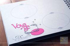 Livre d'or - intérieur personnalisé avec espaces imprimés http://www.mainsetmerveillesdeco.fr/livre-dor-gris-fushia-petits-pois/