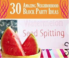 Block party ideas, games, food, themes etc.
