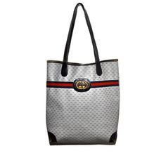 Gucci Large Gg Monogram Blue Tote Bag $288