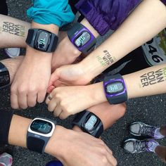 Rocking our Mio ALPHA heart rate sport watches at the BMO Vancouver Marathon