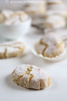 Ricciarelli. The most amazing little piece of deliciousness. @Chelsea Thomas, you should probably figure out how to make these little guys...